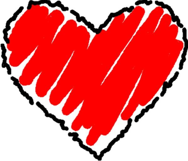 600x515 Hearts Clip Art