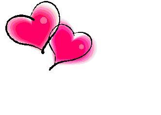 332x238 Double Hearts Clip Art