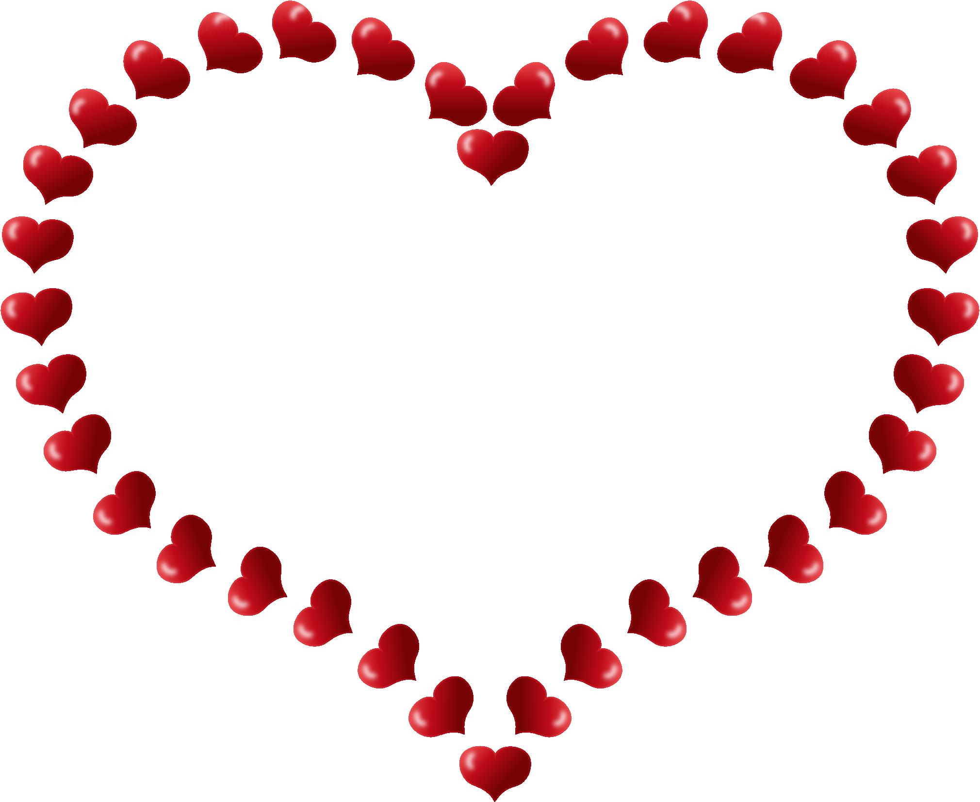 2020x1653 Heart Border Clipart