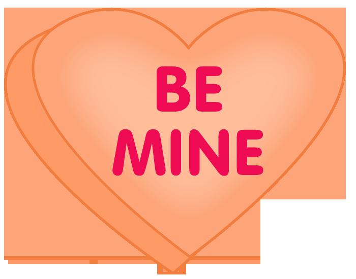 700x550 Valentine Conversation Hearts Clip Art