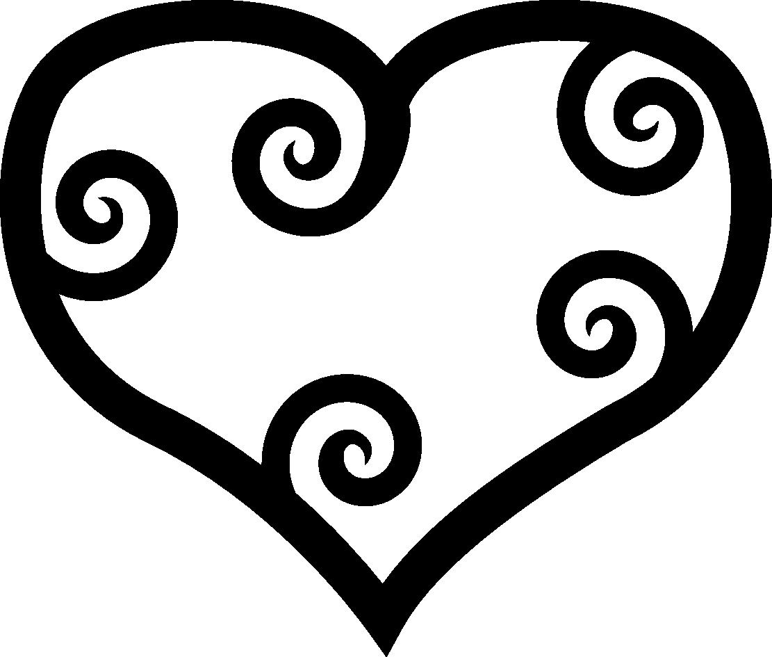 1111x945 Black Heart Clip Art Clipart