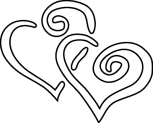 600x481 Heart Black And White Clip Art Clipart Panda