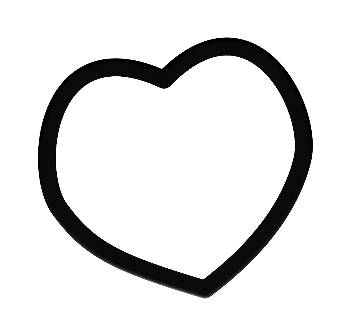 1150x1100 Heart Clipart Solid Black