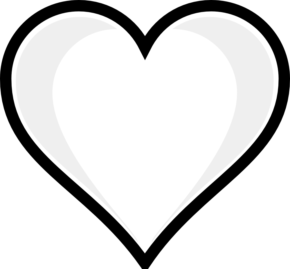 999x928 Two Hearts Black Clipart