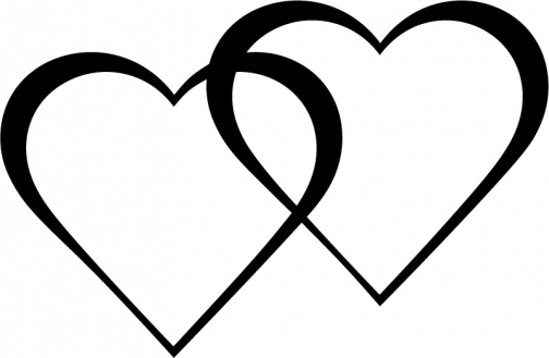 504x329 Two Hearts Clipart