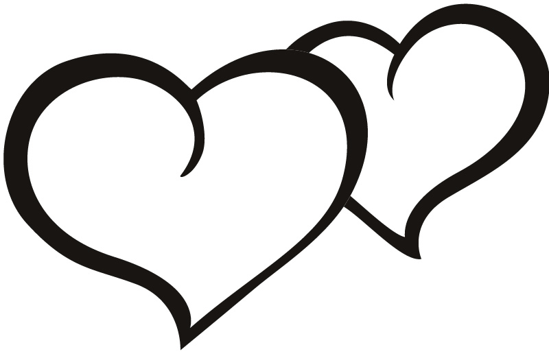 800x519 Heart Clipart Black And White