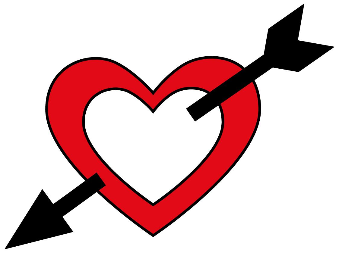 1124x860 Hearts Clipart Arrow Clip Art