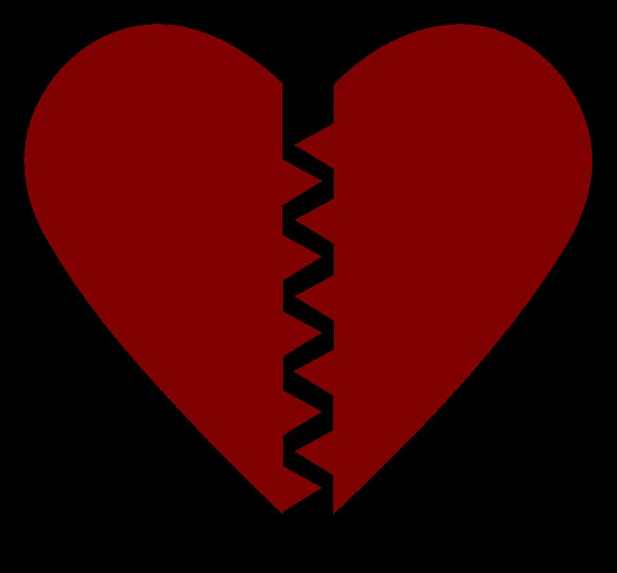 900x836 Broken Hearts Clipart Vector Clip Art Free Design Image