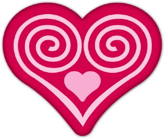 340x287 Spiral Heart Clip Art