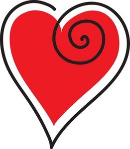 261x300 Clip Art Red Heart Clipart Panda