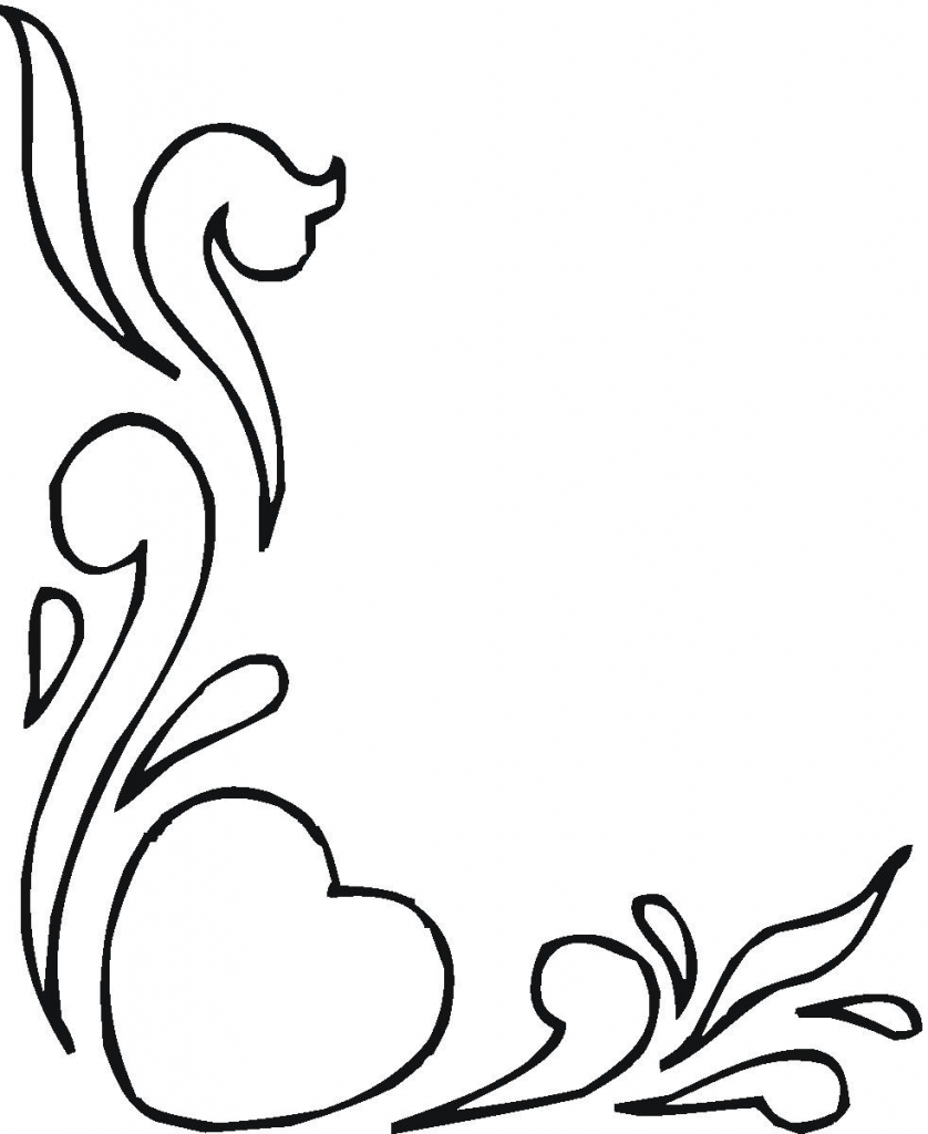838x1024 Flower Heart Drawing Drawings Of Flowers And Hearts In Black White