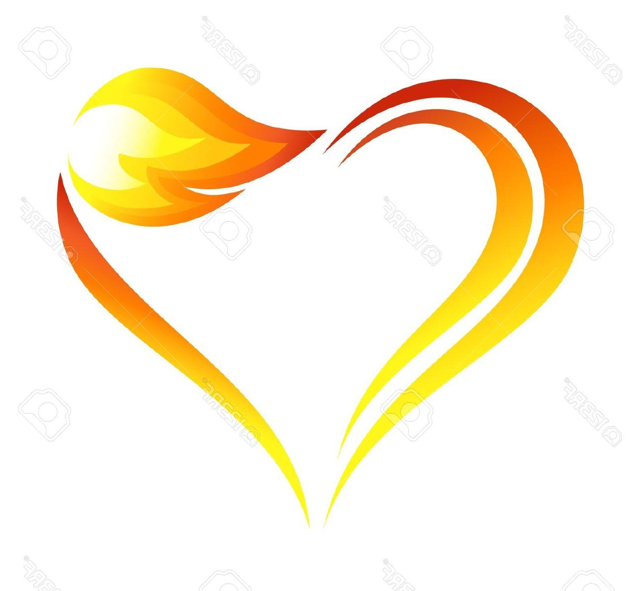 1300x1198 Hd Drawings Of Hearts On Fire Vector Library Free Vector Art