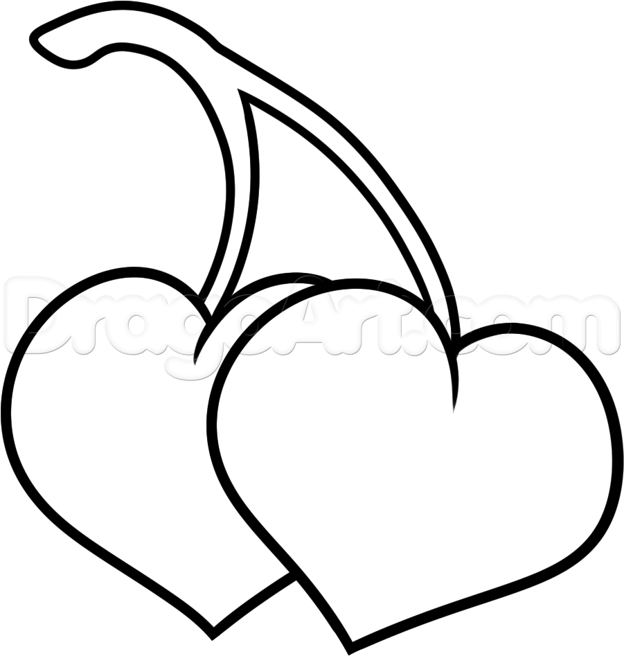 901x947 Pics Of Hearts Drawing How To Draw Cherry Hearts, Stepstep, Food