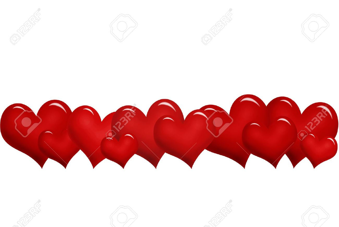 Hearts In A Row Clipart | Free download on ClipArtMag