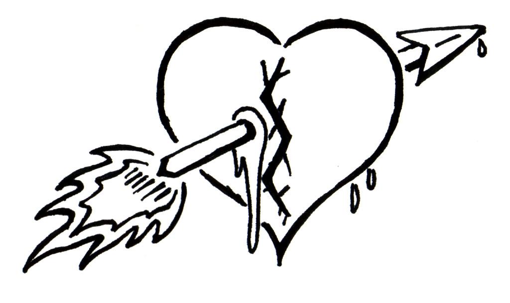 1024x609 Drawn Broken Heart Wing Drawing