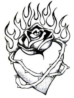 236x313 Drawn Heart Heart On Fire