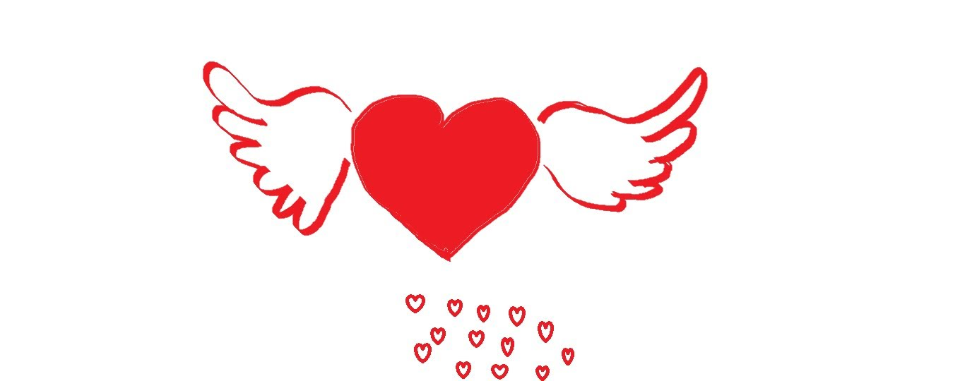 1359x540 How To Draw A Heart With Wings Step By Step
