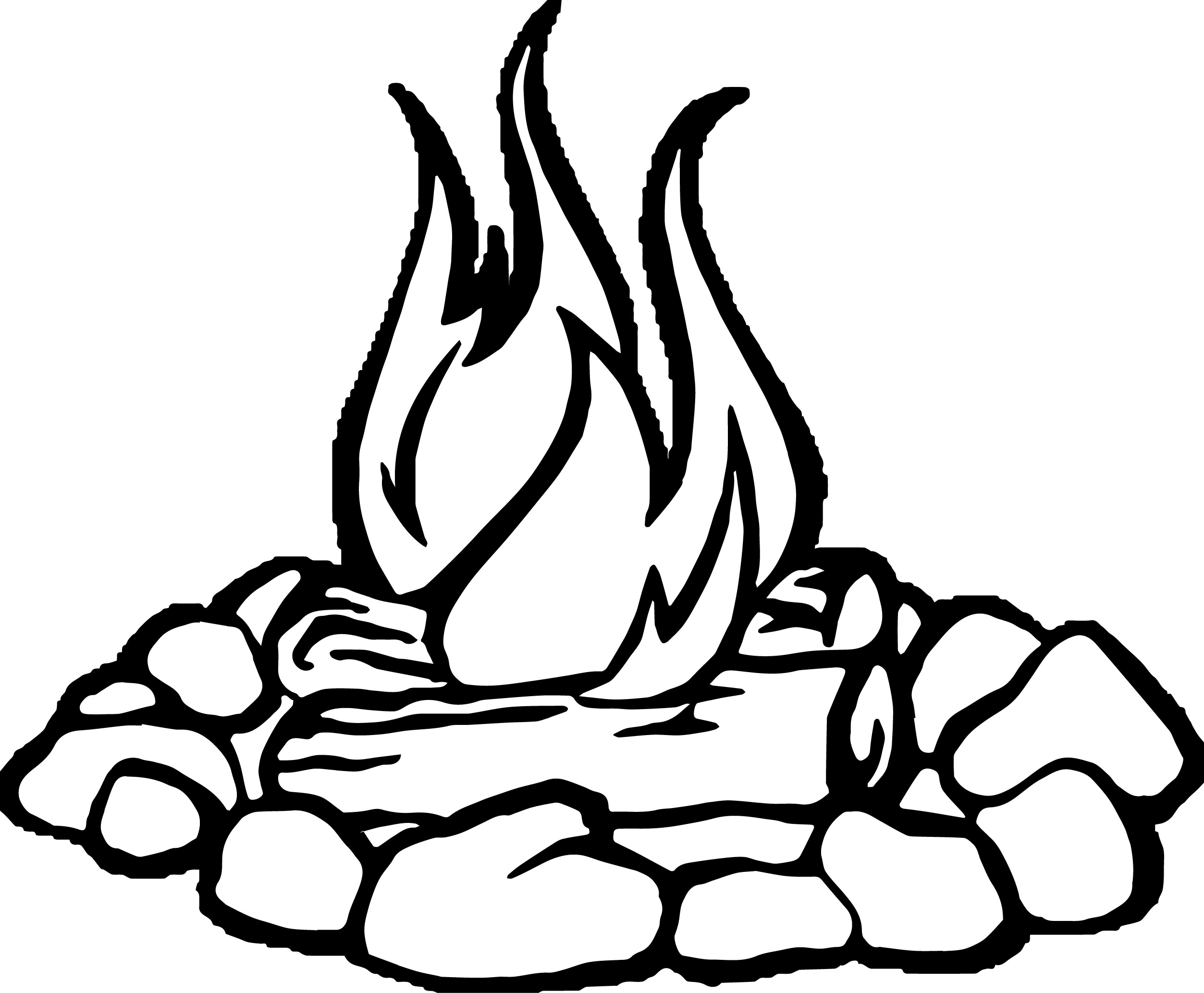 2506x2067 Fire Coloring Page Free Download