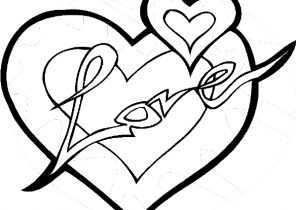 296x210 Heart Coloring Pages