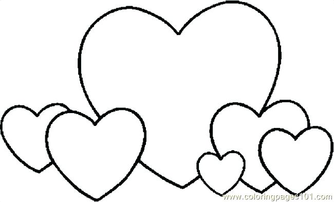 650x393 Coloring Pages Of Hearts