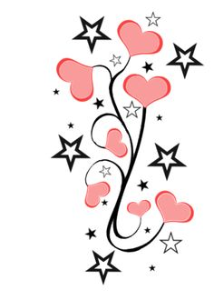 236x330 Stars And Hearts Tattoo Designs Group