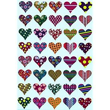 350x350 Valentines Stickers Heart Shape