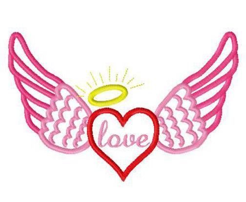 504x414 Halo Clipart Heart Wing