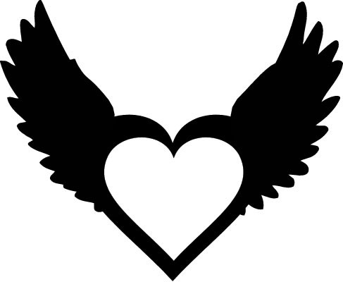 487x400 Heart With Wings By Valiantlover000