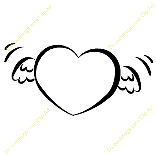 500x500 Heart Clipart Wing