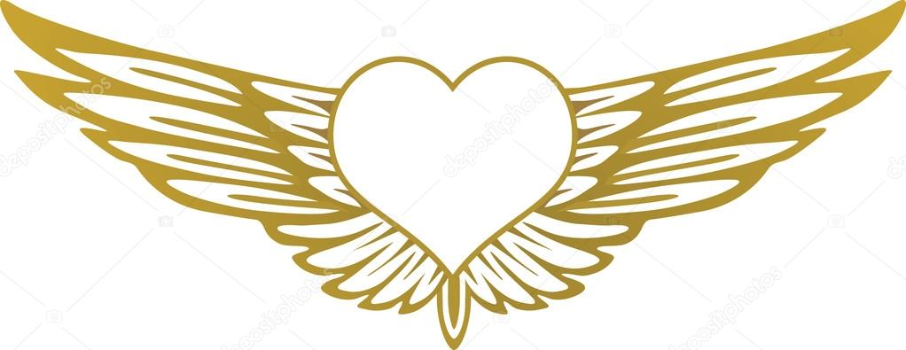 1022x395 Heart With Wings Stock Vectors, Royalty Free Heart With Wings