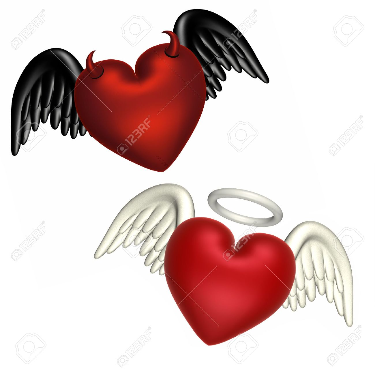 1300x1300 Hearts With Halo Clipart