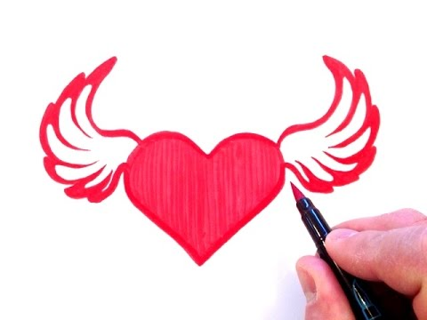 480x360 How To Draw A Heart With Wings