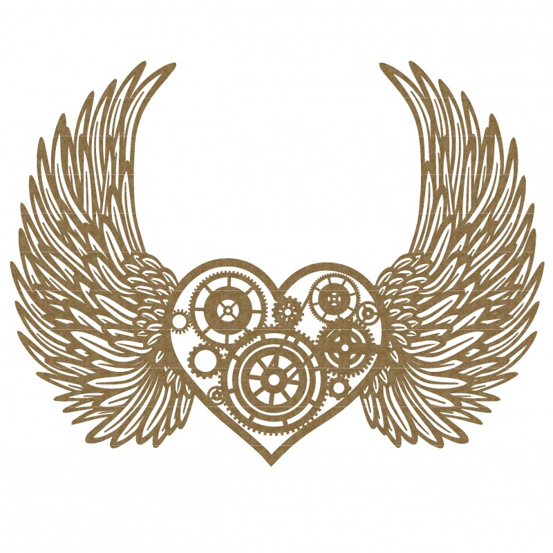 800x800 Steampunk Heart With Wings