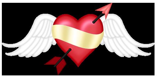 505x244 Valentine Small Heart With Wingsu200b Gallery Yopriceville