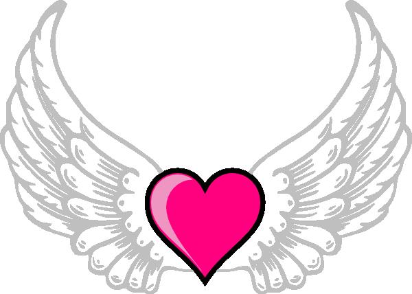600x428 Wings N Pink Heart Clip Art