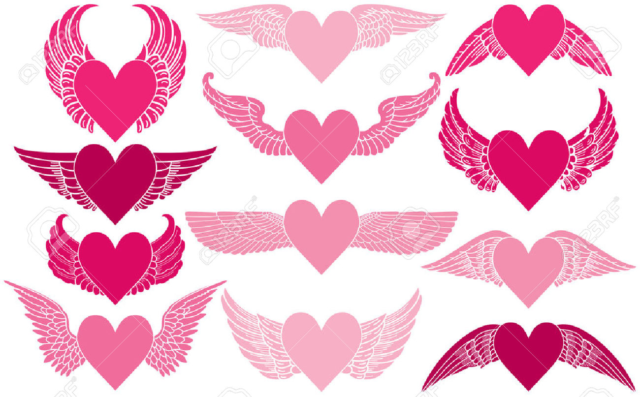 1300x807 Wings Clipart Winged Heart