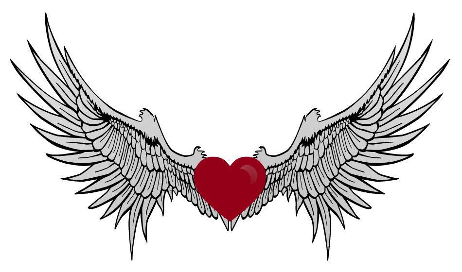 950x560 Wings Clipart Winged Heart