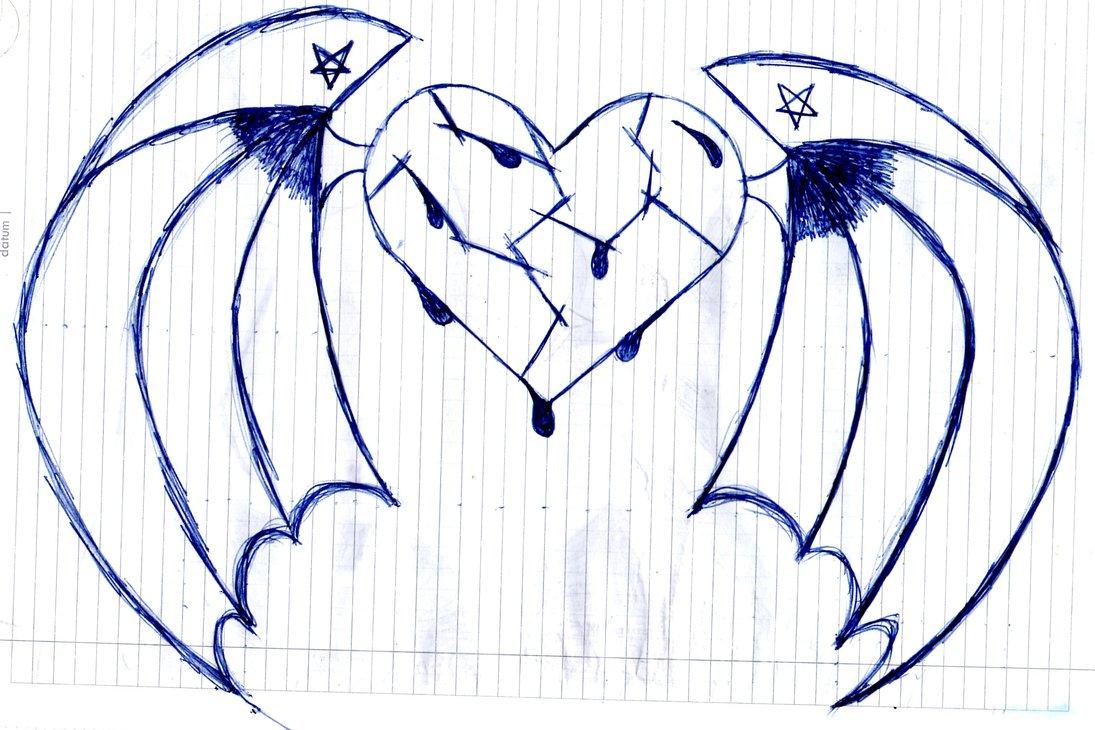1095x730 Drawn Broken Heart Wing