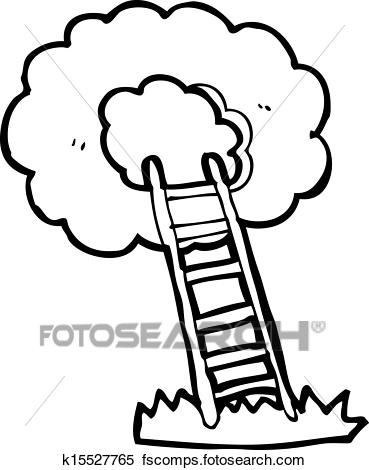 369x470 Clipart Of Cartoon Ladder To Heaven K15527765