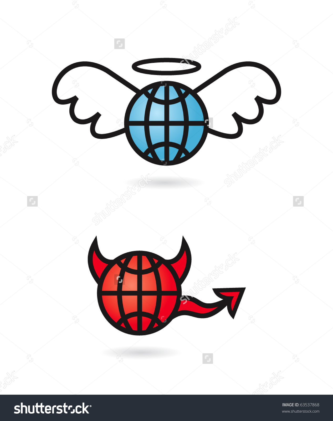 1267x1600 Heaven And Hell Clipart