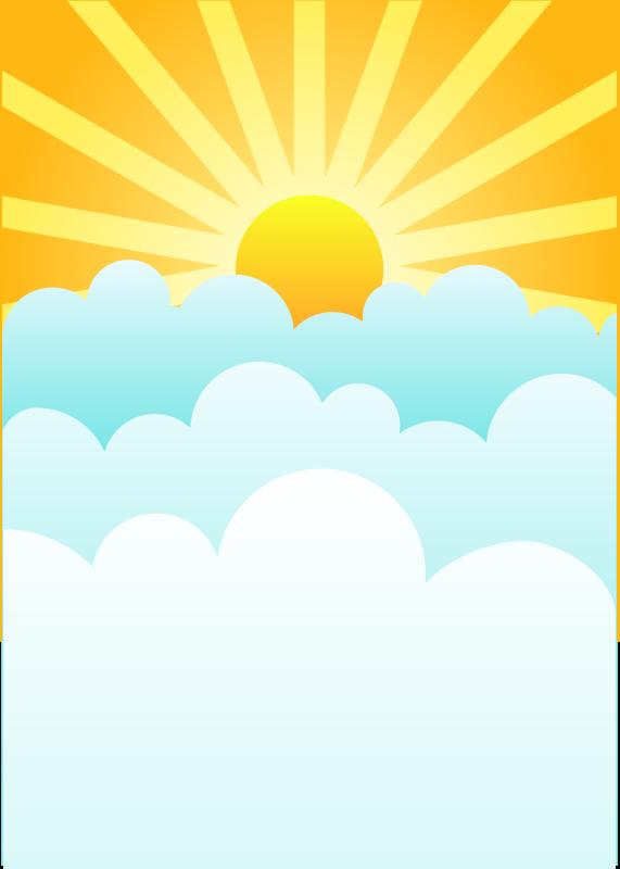 571x800 Free Sunrise Clipart Image
