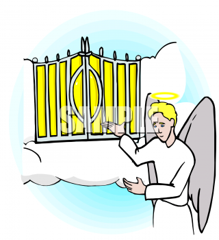 320x350 Gates Of Heaven Clipart