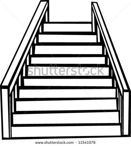 421x470 Heaven Clipart Staircase