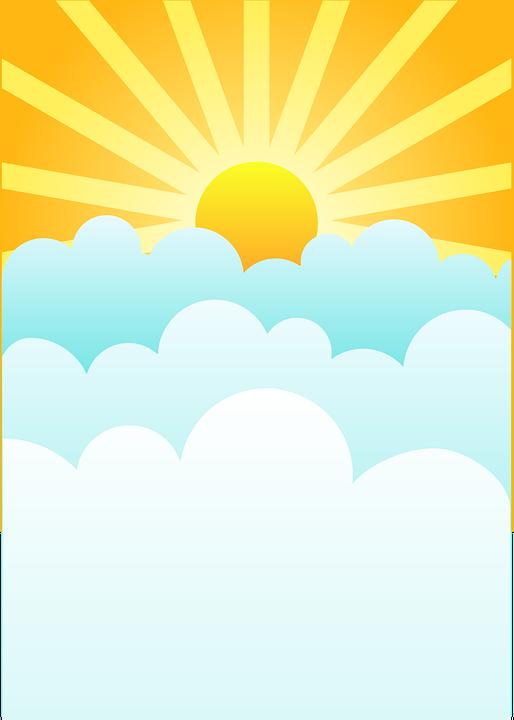 514x720 Heaven Clipart Sun Cloud