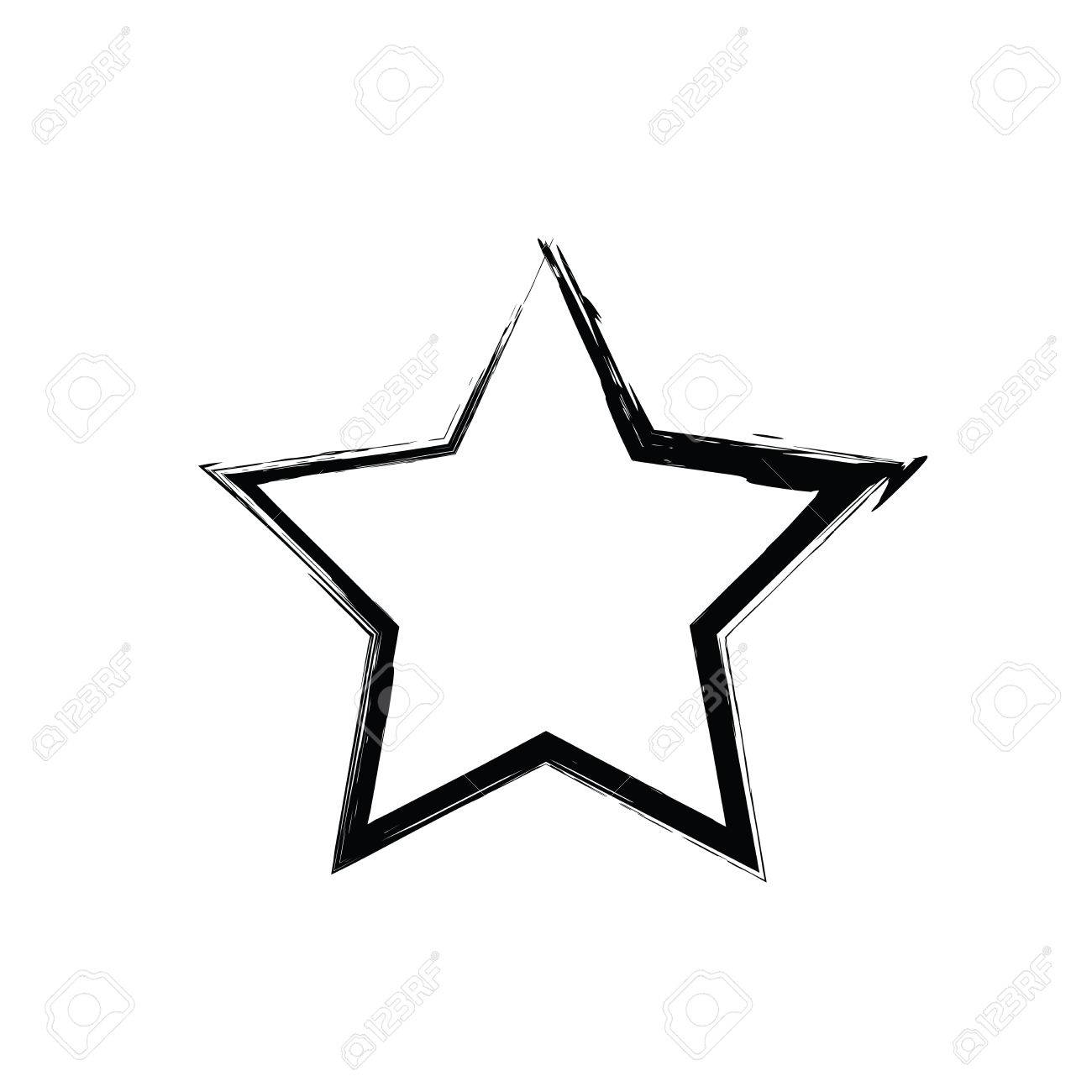 1300x1300 Grunge Star Vector. Five Pointed Star. Vector Star Symbol.