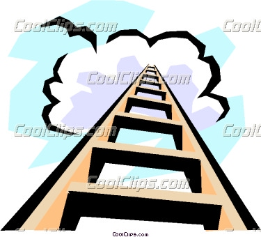 375x340 Heaven Clipart Staircase