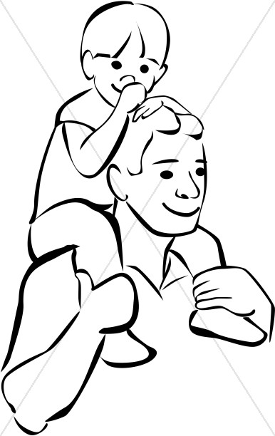 386x612 Father Son Clipart