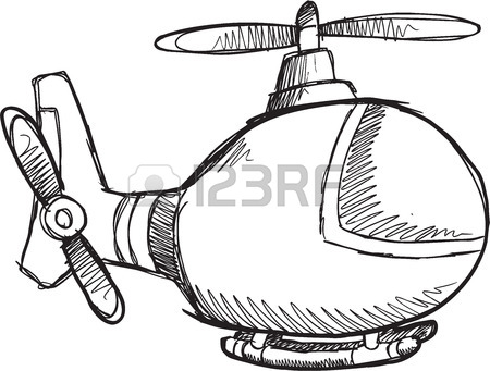 Helicopter Clipart Black And White