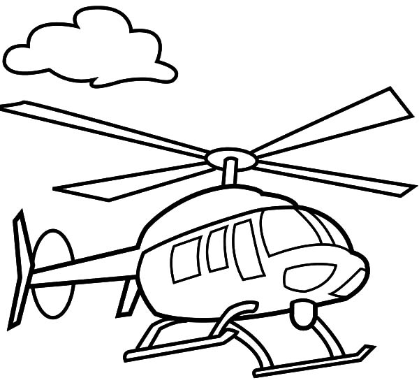 600x551 Helicopter Floating In The Air Coloring Pages Helicopter Floating