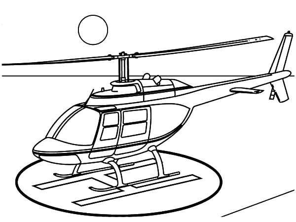 600x450 Helicopter Landing On Helipad Coloring Pages Helicopter Landing